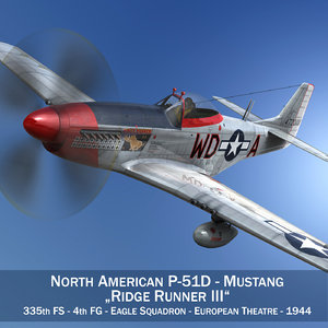 3d model north american - ridge