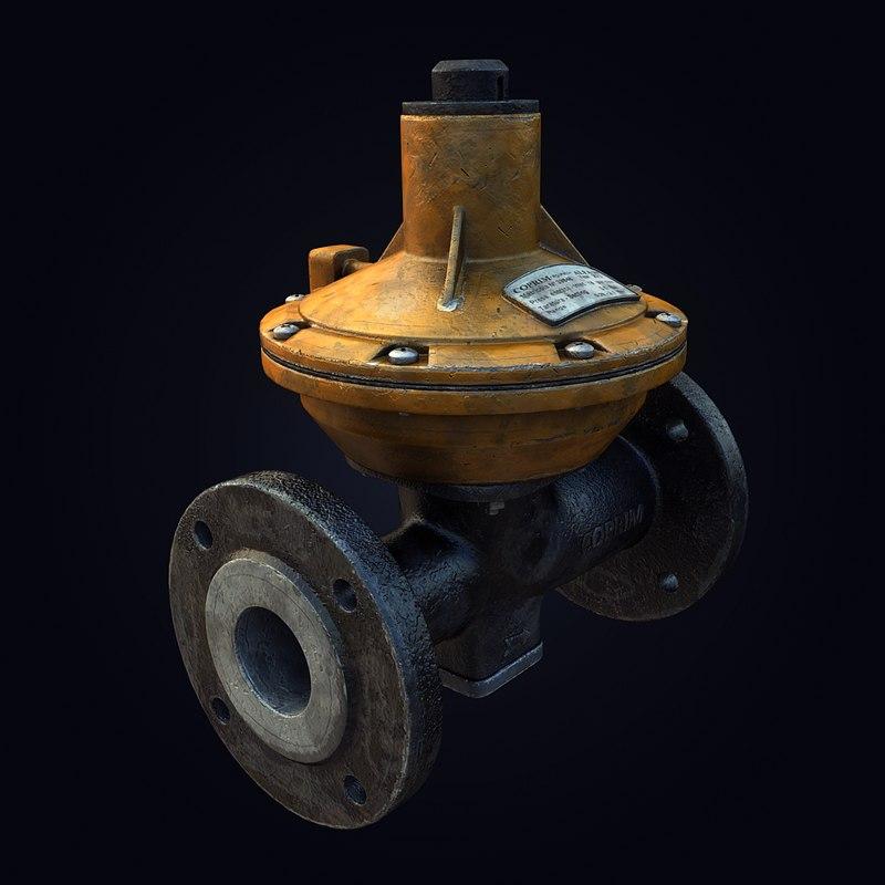 3d model gas pressure regulator