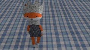 3d fox toy model