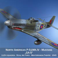 north american mustang mk 3d model