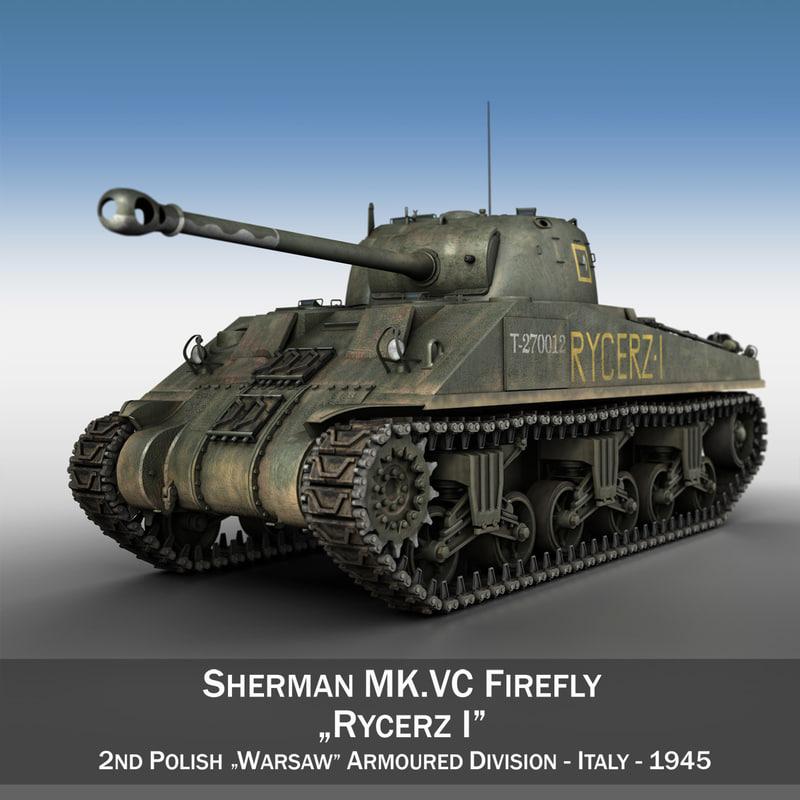 3d model of m4 sherman firefly vc