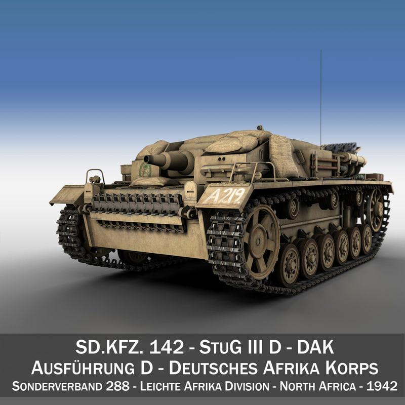 3d model - stug 3 d