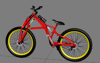 3d model of folding downhill bike