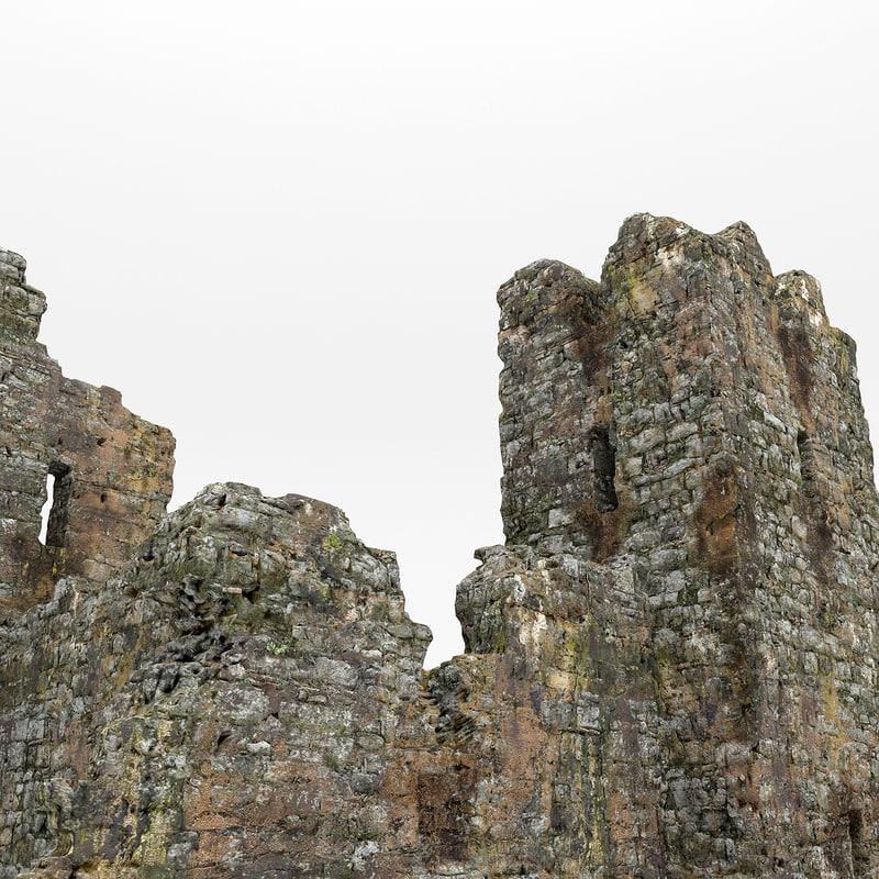 castle ruins 3d model