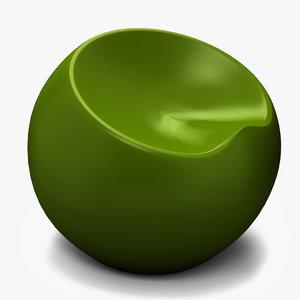 zuo drop stool 3d max