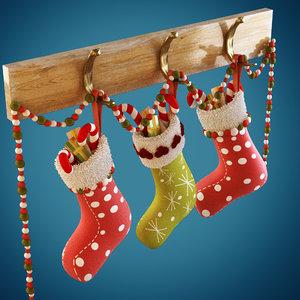 3dsmax christmas sock