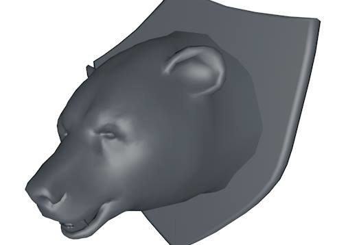 Low Poly Mounted Bear Head