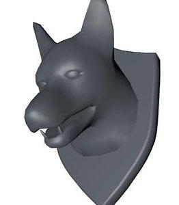 3d mounted jackal head