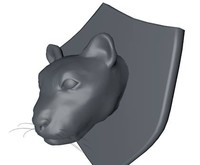 3d model mounted panther head