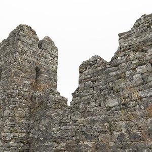 3d castle ruins model