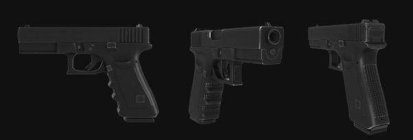 glock22 glock 22 3d max
