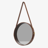 max leather mirror