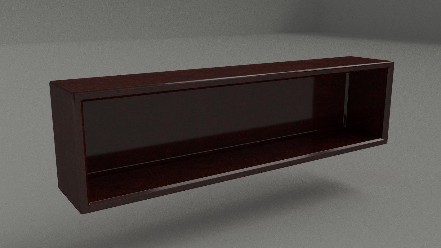 3d classic mahogany book case model