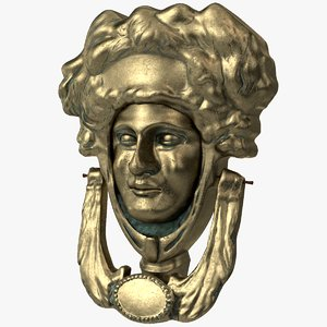 3d victorian door knocker