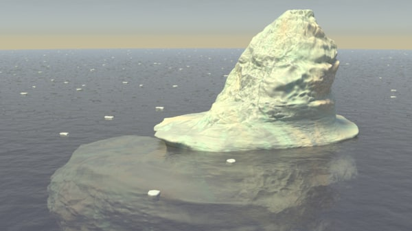 3d iceberg ice berg model