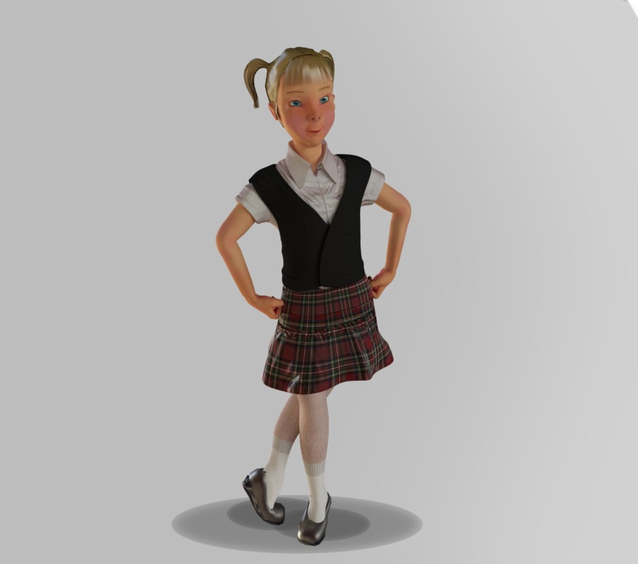 girl 3d max