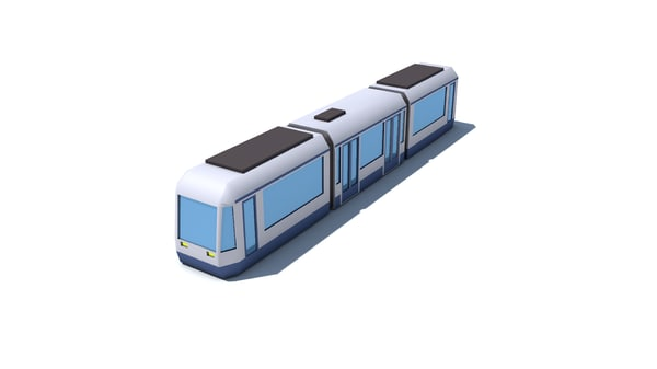 obj low-poly tram