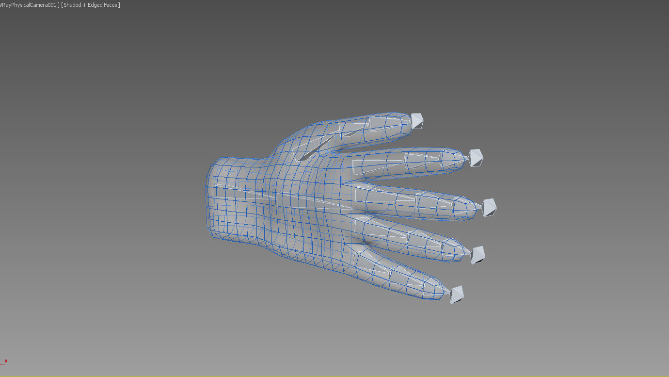 3d model hand ice