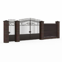 3ds max wrought iron gate fence