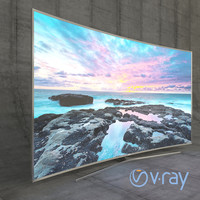 Samsung 3D Led TV 4k SUHD 88 JS9500 9 Series Curved VRay