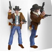 3d model cowboy