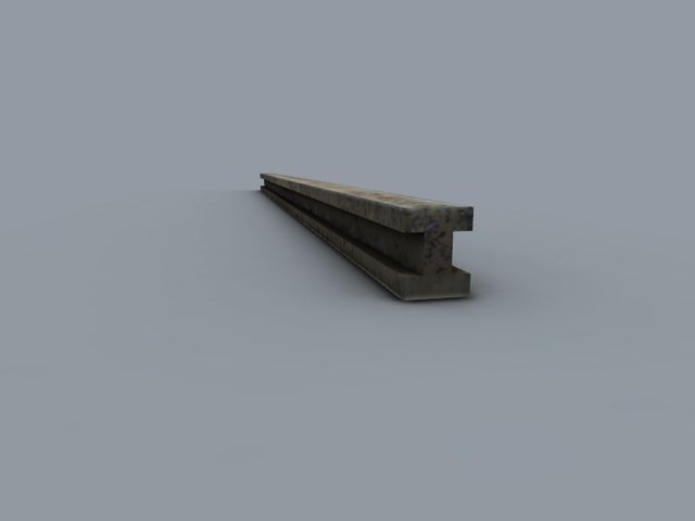 free iron rod 3d model