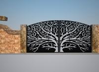 3d model fence gate double