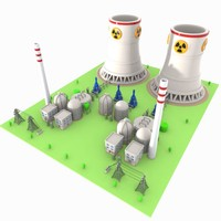 Cartoon Nuclear Power Plant