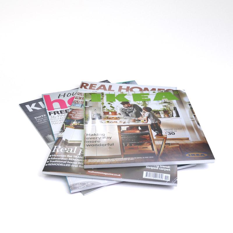 magazines ikea 3d model