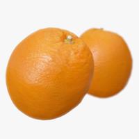 3d model orange polys