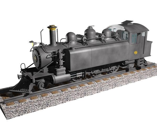 c4d steam locomotive wb299