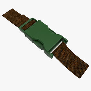 military adjustable buckle strap 3ds