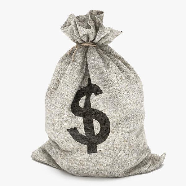 money bag dollar 3d model