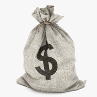money bag dollar 3d model