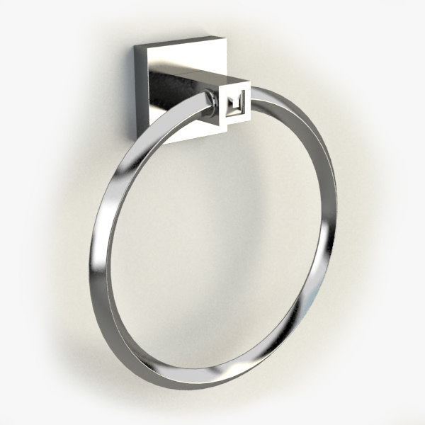 3d towel ring model