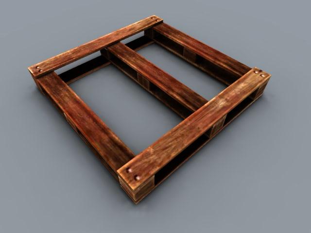 free fbx mode pack wooden pallets