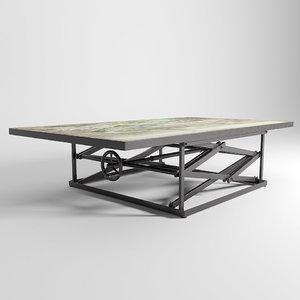 3d kare coffee table paris model