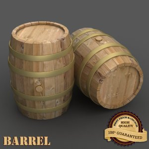 3d model of barrel realistic