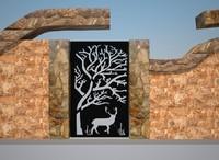 3d model fence gate