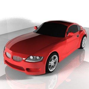 3d gamecar model