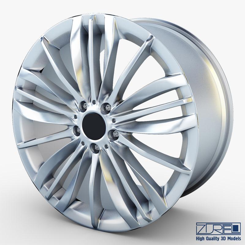 3d style 332 wheel silver model
