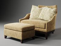 century furniture highview 11-1216 3d model