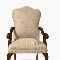 3d model wooden foam chair