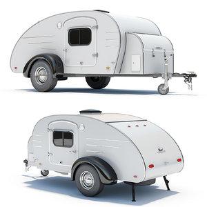 3d model teardrop trailer
