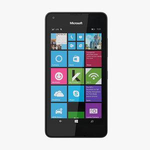 3d model microsoft lumia 550