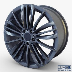 3d style 332 wheel ferric model