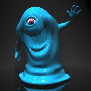3d model bob monsters vs aliens