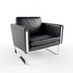 3d model of leather chair