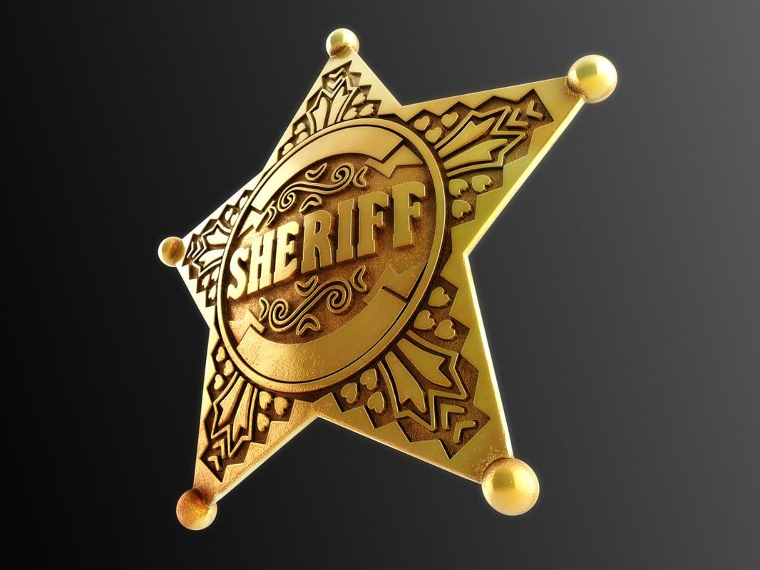 3d sheriff badge model