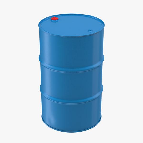 3d model steel oil drum